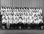 Bradwell Graduation photo - 1957 - Remember the ribbons?