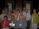 Horace Mann alumni August 2011  First names only:  Row, Top/Rear to Front, L to R  3 – Judy,  Suzanne (not Mann), Stev